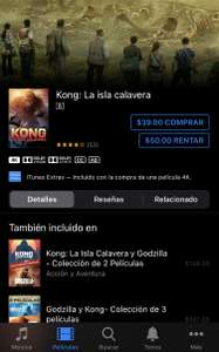 iTunes: Kong: La isla calavera
