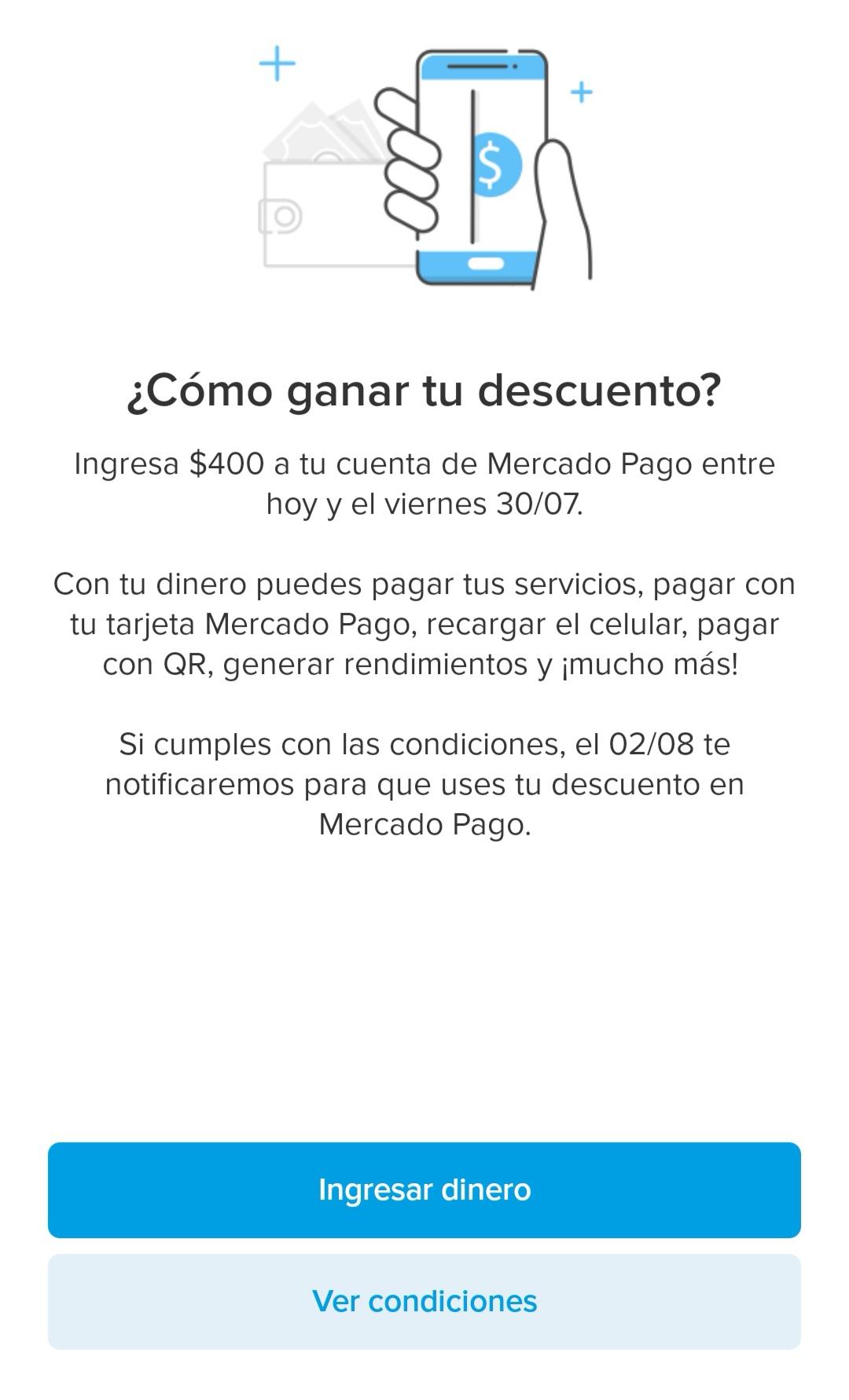 Mercado Pago: $60 descuento exclusivo para uso en app (usuarios seleccionados)