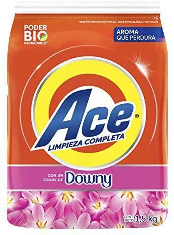 Ace Detergente En Polvo Limpieza Completa Con Un Toque De Downy 1.5 kg