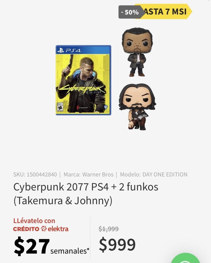 Elektra: Cyberpunk 2077 ps4 + 2 funkos