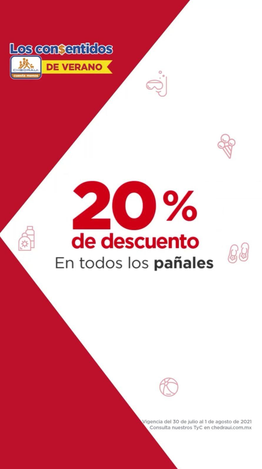 Chedraui: 20% de descuento en todos los pañales