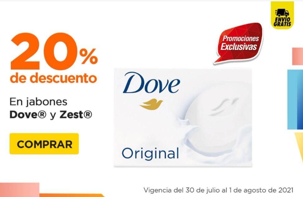 Chedraui: 20% de descuento en Jabones de tocador y líquidos Dove y Zest