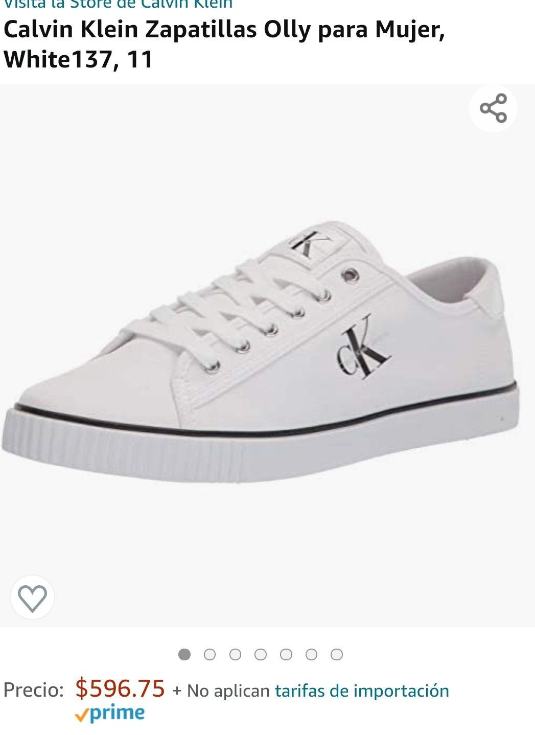 Amazon mx: Calvin Klein Zapatillas Olly para Mujer, White137, 11