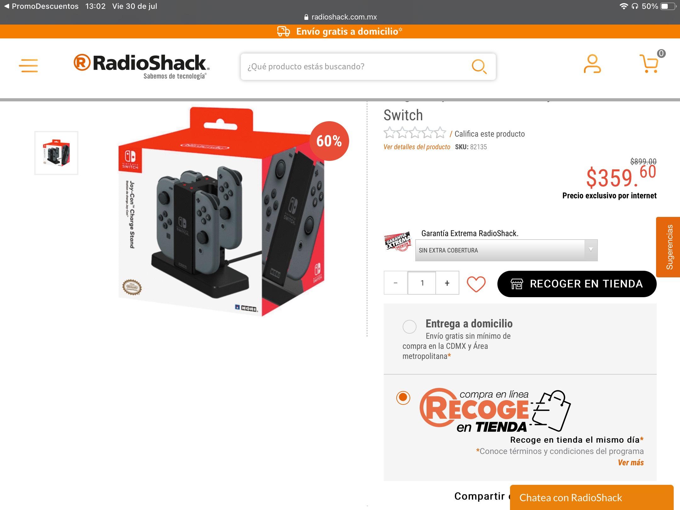 RadioShack Base de carga para Joy Cons