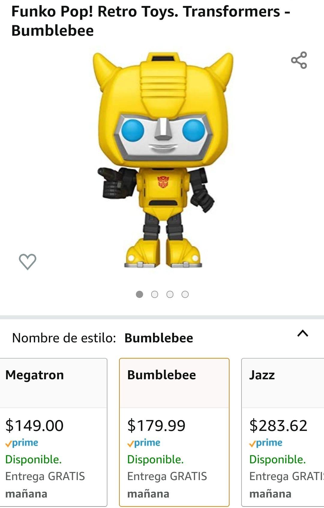 Amazon Funko Pop de Bumblebee