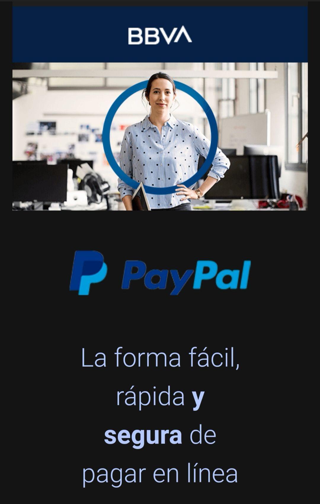 BBVA: Mil puntos BBVA al registrar TC Digital en PayPal + Puntos dobles en agosto