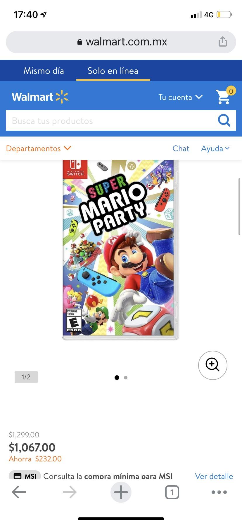 Walmart: Mario Party para Nintendo Switch