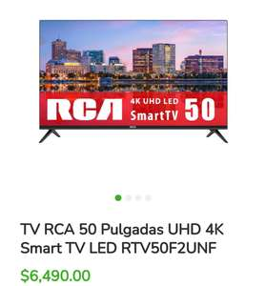 Bodega Aurrera: TV RCA 50 Pulgadas UHD 4K Smart TV LED RTV50F2UNF