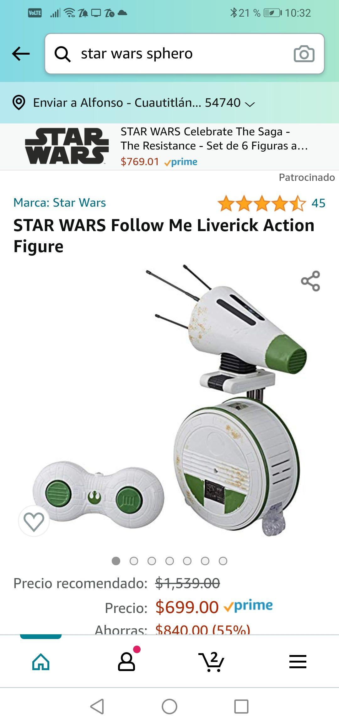 Amazon : STAR WARS Follow Me Liverick Action Figure