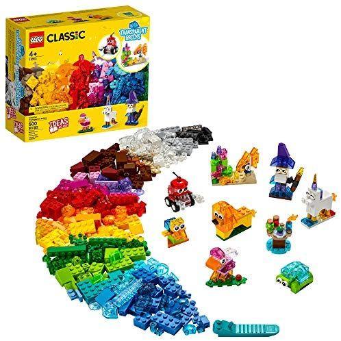 Amazon: LEGO Kit de construcción Infantil Classic 11013 Bricks Creativos Transparentes (500 Piezas)