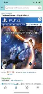 Amazon: The Persistence PSVR ps4