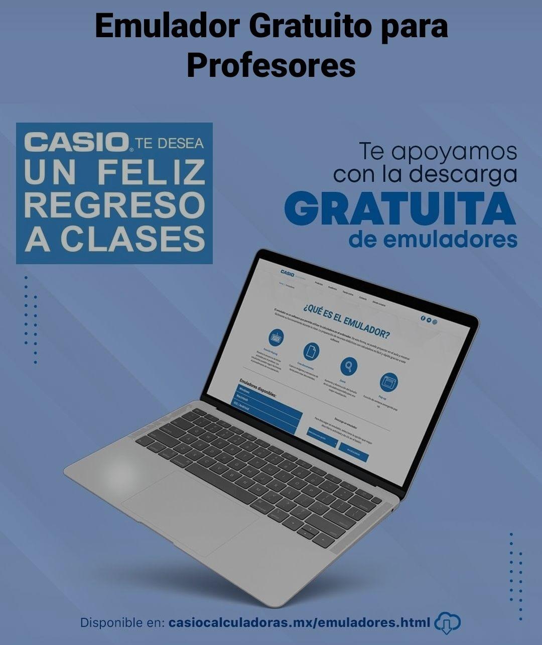 Casio, emuladores gratuitos para profesores y alumnos para este regreso a clases