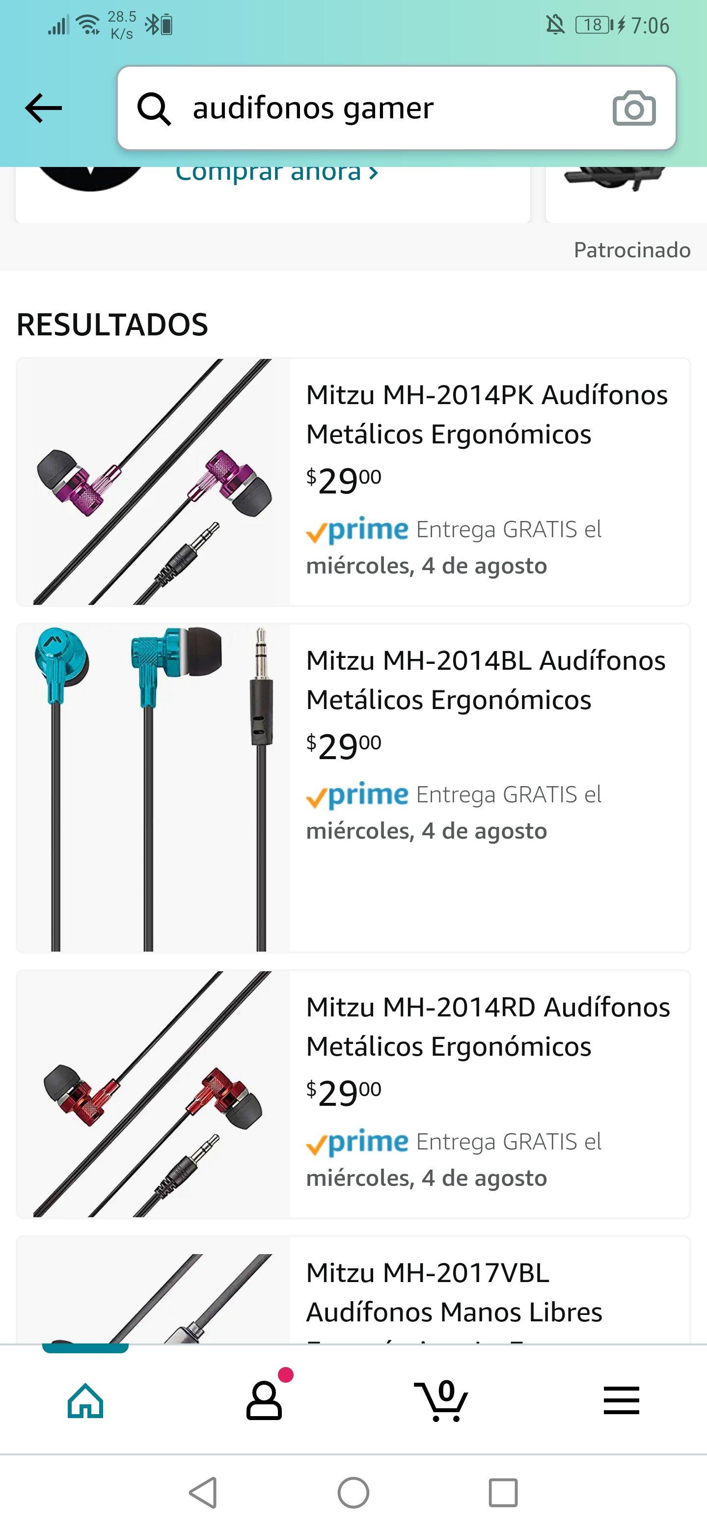 Amazon: Audífonos de la marca Mitzu desde $29 , muchos modelos en descripción
