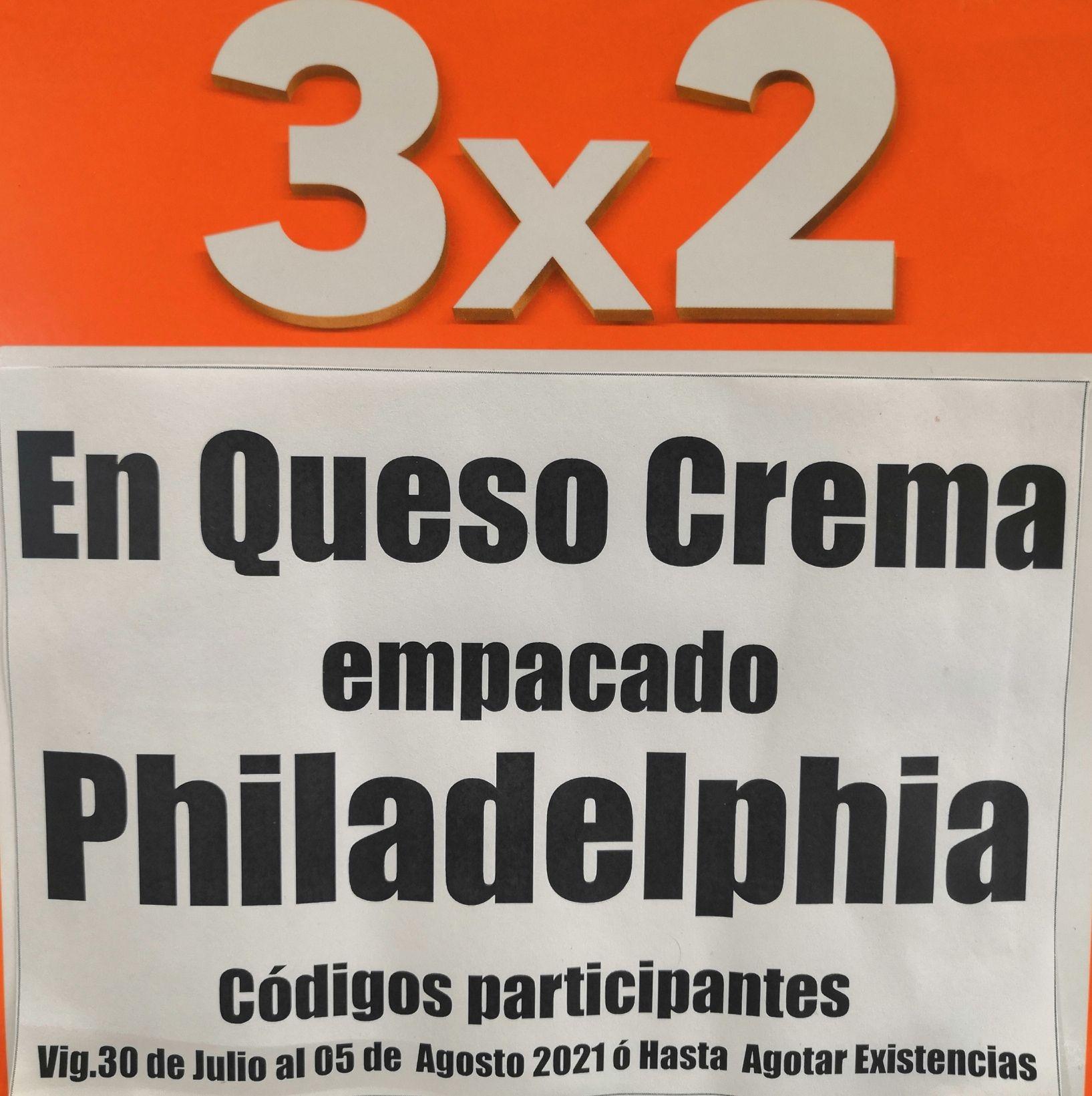 La Comer: 3 x 2 en queso crema Philadelphia empacado y amarillo Kraft