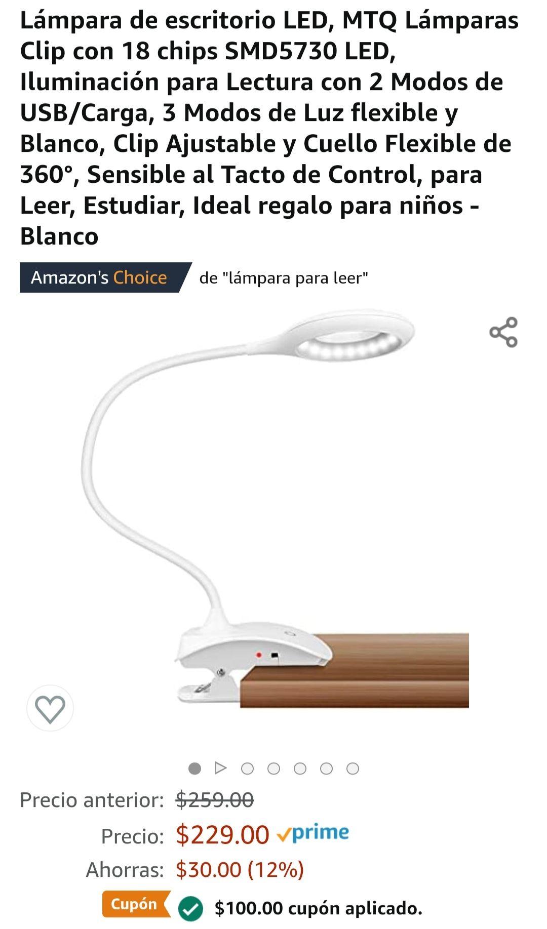 Amazon: Lámpara para escritorio