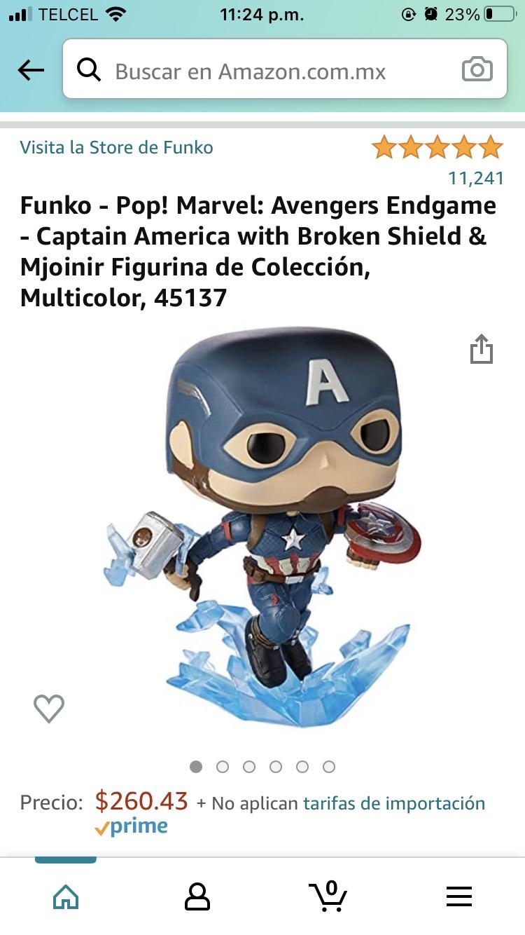 Amazon: Funko - Pop! Marvel: Avengers Endgame - Captain America
