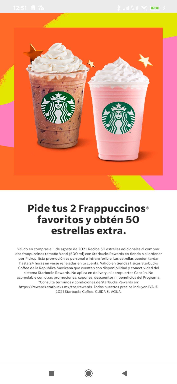 Starbucks - 50 estrellas extra!
