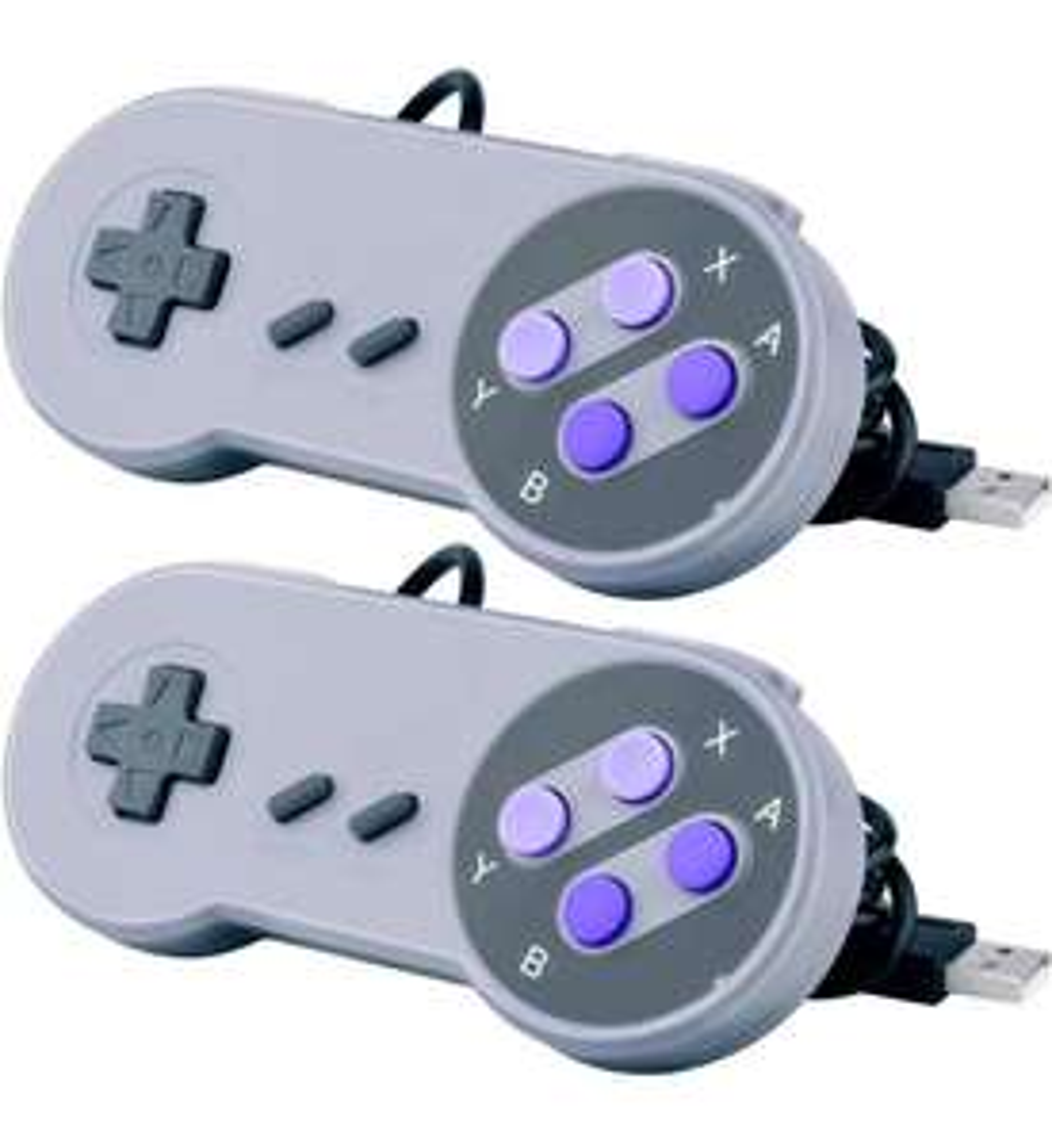 Amazon: Paquete de 2 controles para NES y SNES Classic/PC/Mac/Rapsberri Pi