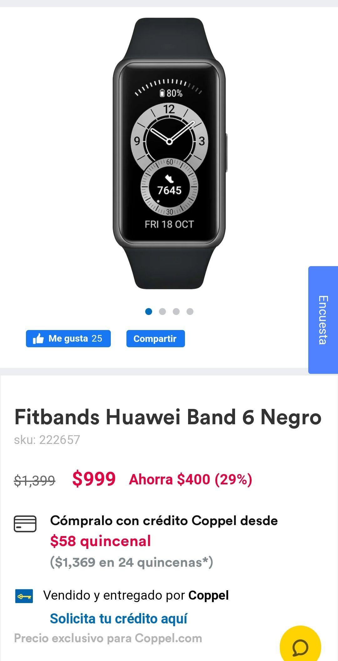 Coppel: Huawei Band 6 negro
