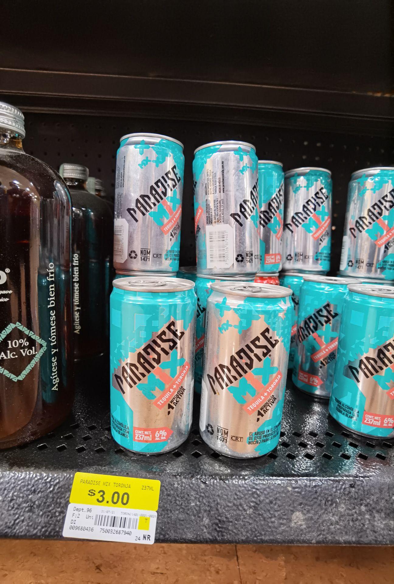 Walmart: Paradise Mix (Tequila con toronja)