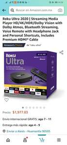 Amazon: Roku Ultra 2020 | Streaming Media Player HD/4K/HDR/Dolby Vision with Dolby Atmos, Bluetooth Streaming