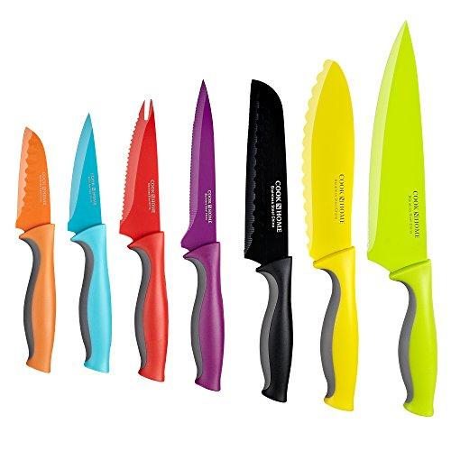 Amazon Juego de 14 cuchillos de acero inoxidable con revestimiento de carbono