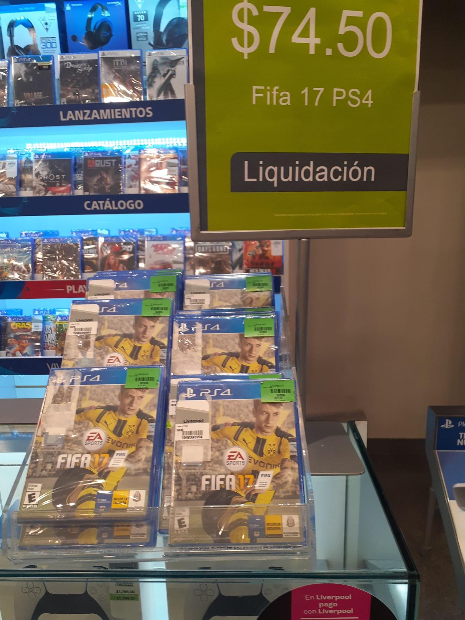 LIVERPOOL FIFA 17 PS4 Y OTROS EN LIQUIDACIÓN