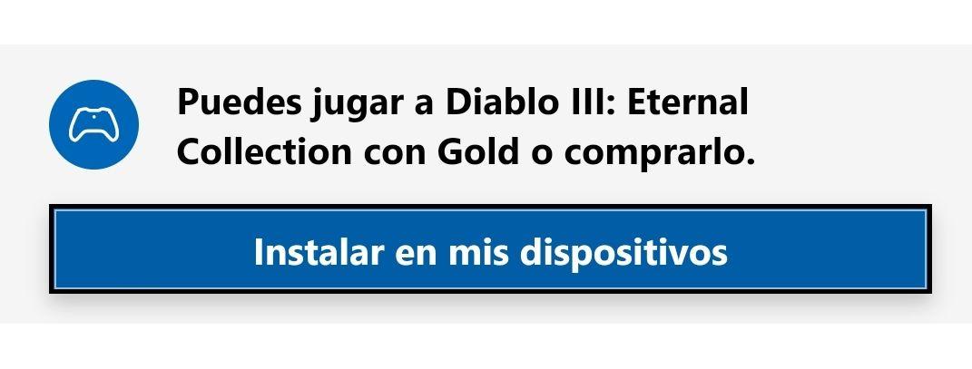 Xbox Diablo 3 Eternal Collection Gratis como Gold!