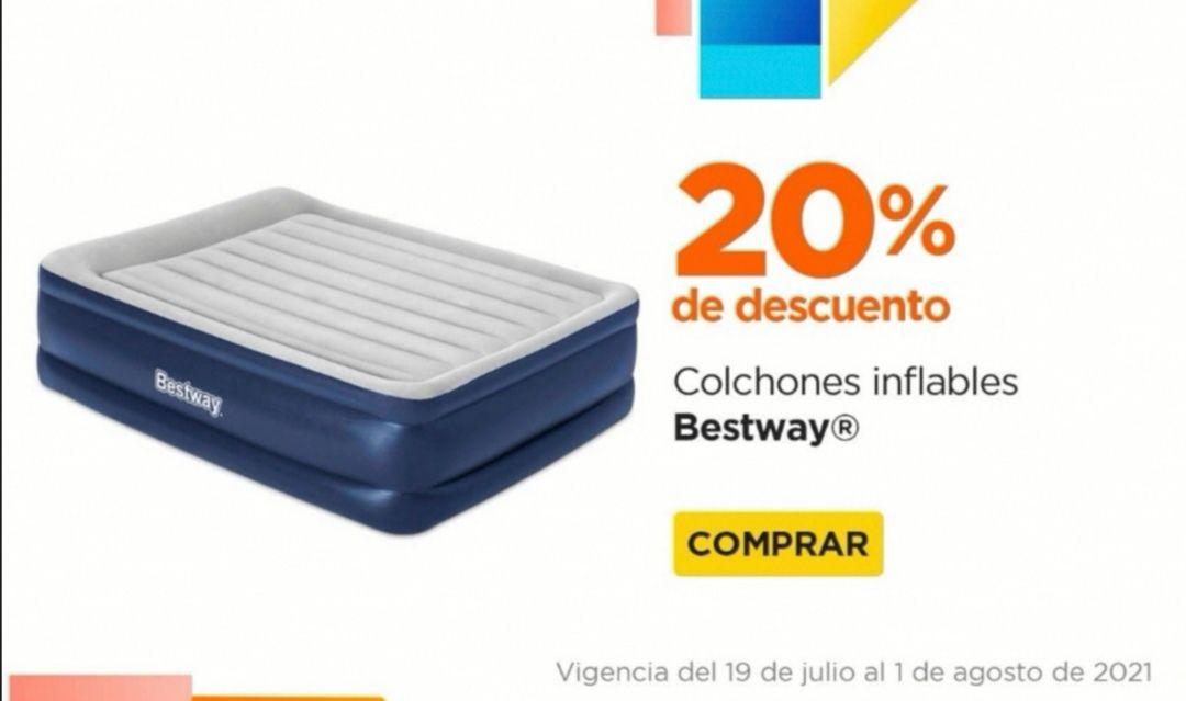 Chedraui: 20% de descuento en Colchones Inflables Bestway