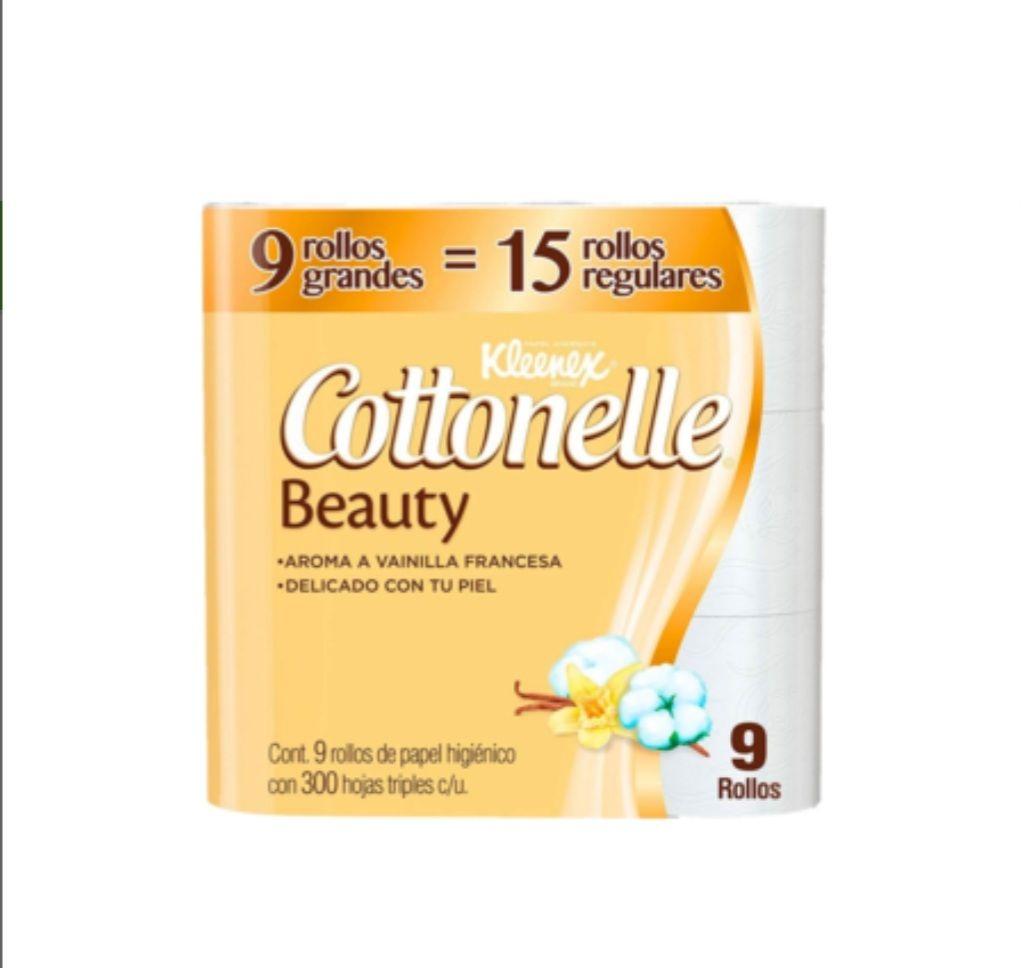 Soriana hiper: Papel higienico cottonelle beauty(18 rollos de 300 hojas)