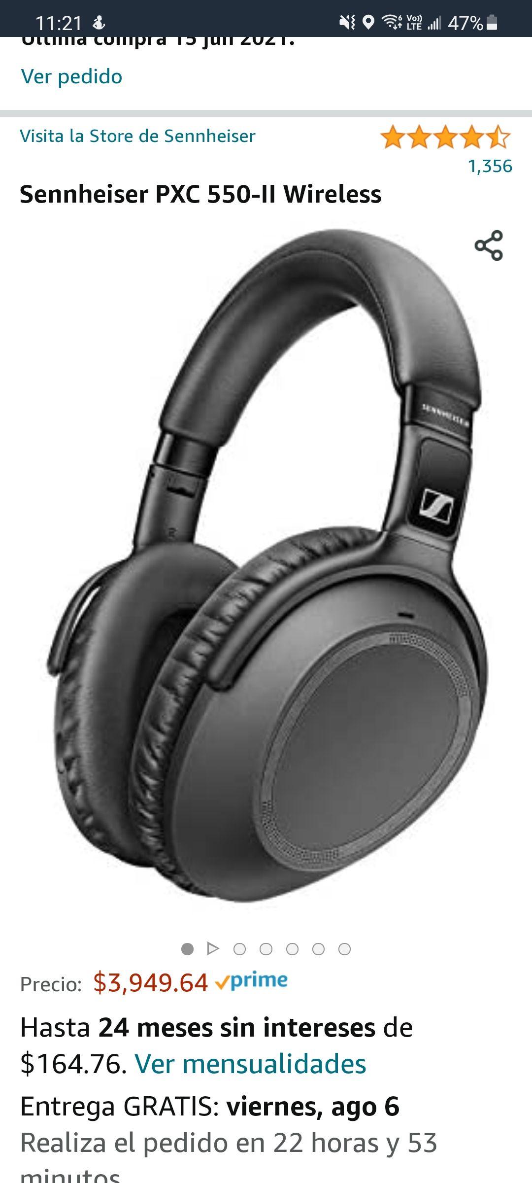 Amazon: Sennheiser PXC 550-II Wireless