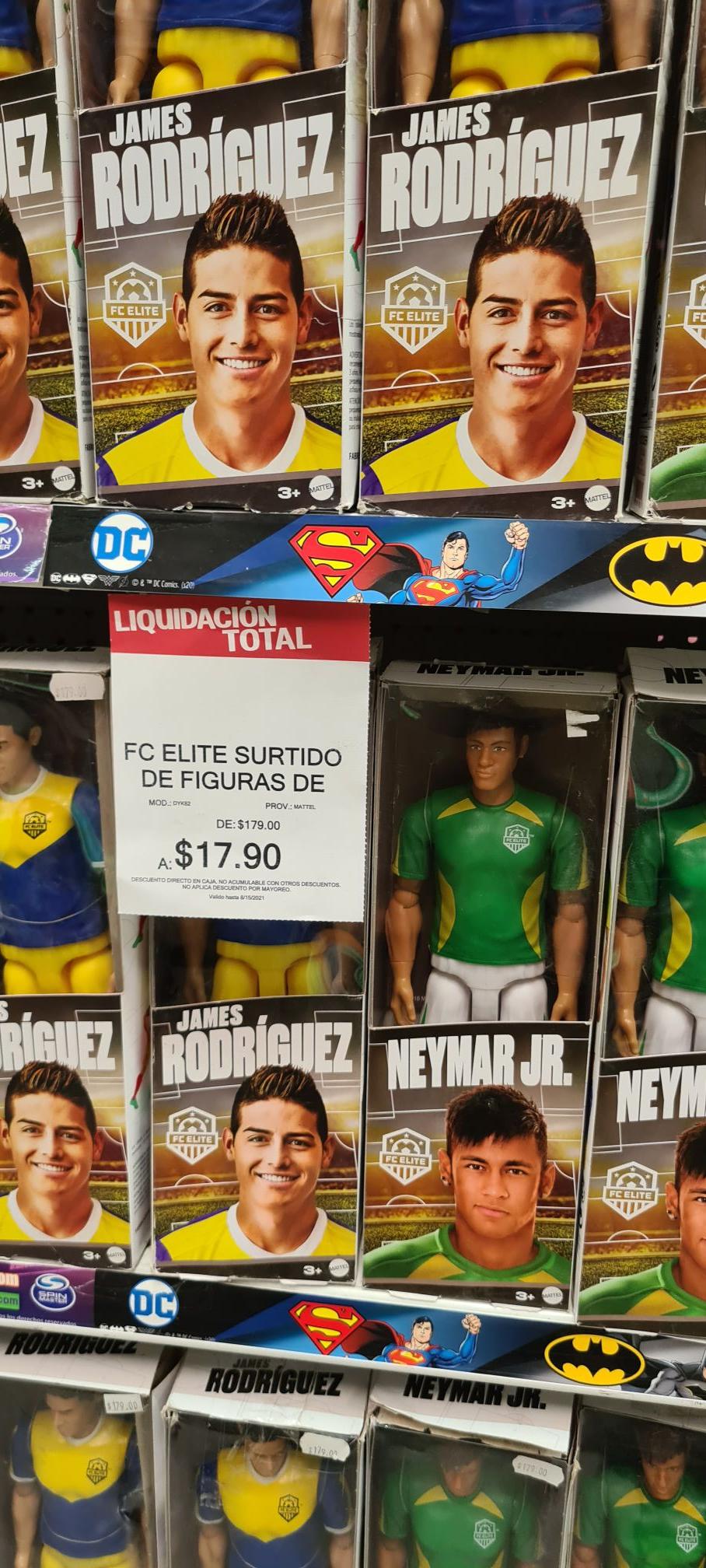 Liquidación de figuras de futbol en juguetron