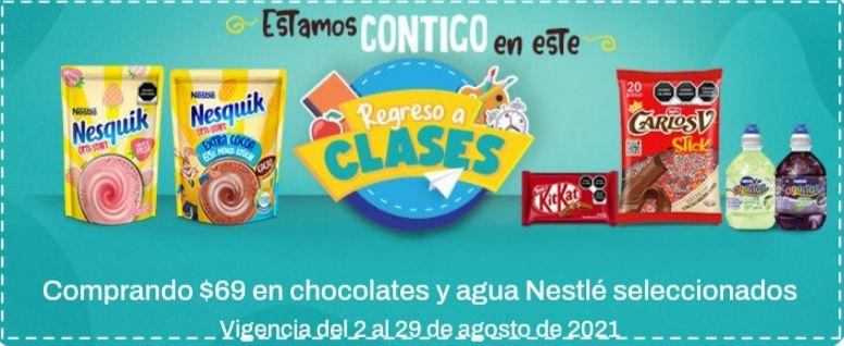 Chedraui: Envío gratis de tu súper en la compra mínima de $69 en chocolates y agua Nestlé seleccionados