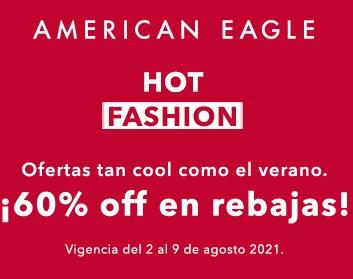 American Eagle Hot Fashion: Hasta 60% de Descuento