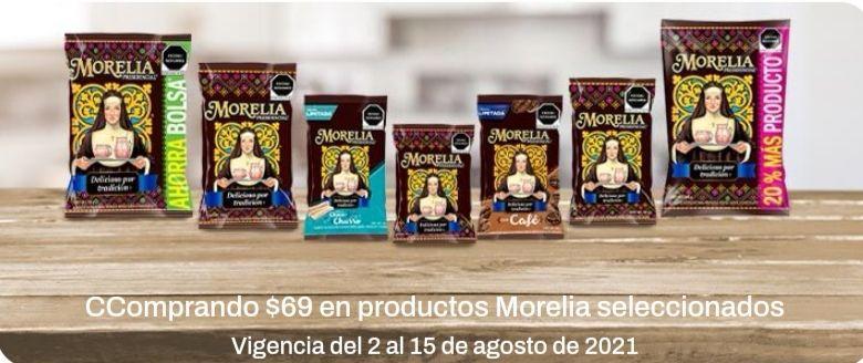 Chedraui: Envío gratis de tu súper en la compra mínima de $69 en productos Morelia seleccionados
