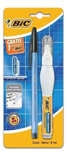 Amazon: BIC Shake´n Squeeze Pluma Correctora Blister 1 pieza + 1 Bic Cristal (mínimo de compra 3)