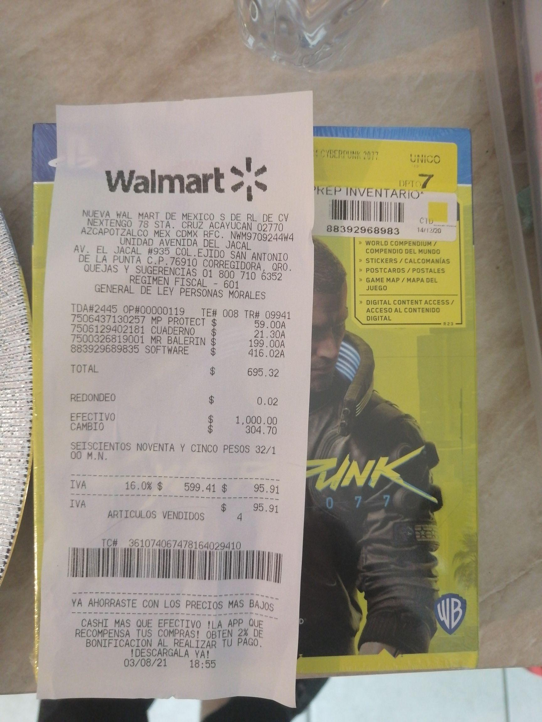 Walmart: Ciberpunk ps4