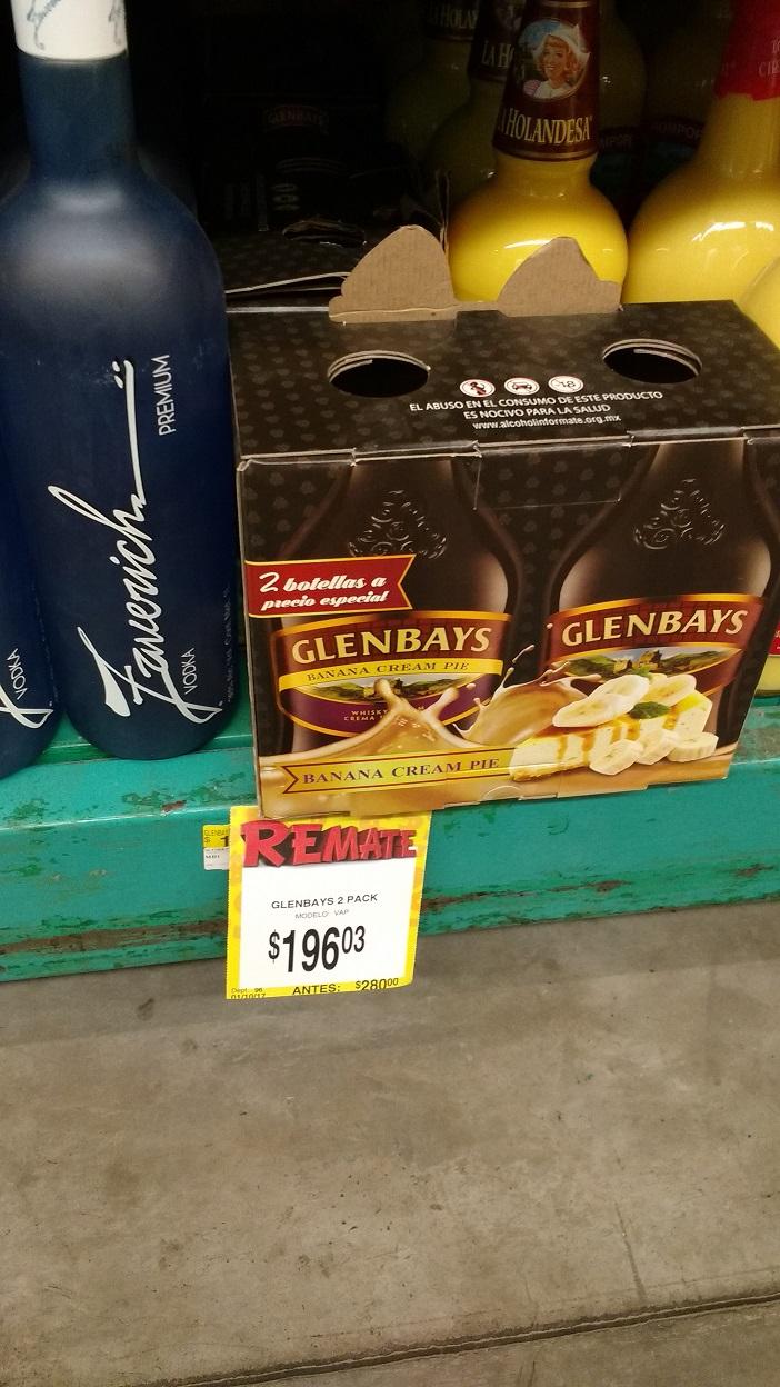 Bodega Aurrerá: Crema Whisky Glenbays 750 ml. más 1 Crema Whisky Glenblays Banana 750 ml a $196.03