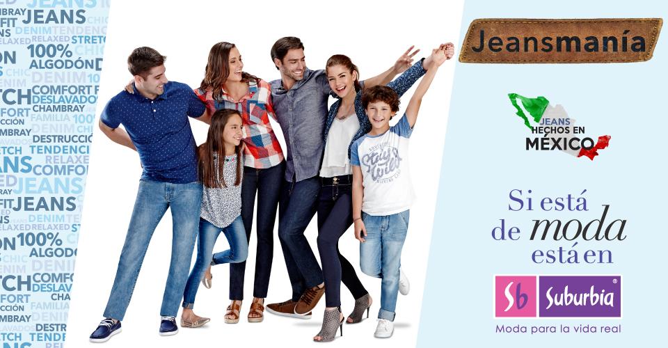 Suburbia: Jeansmanía Promoción en Jeans desde $150 para toda la familia